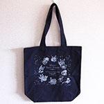 コットンバッグ+シルク片面1色印刷(刷り色:シルバー)