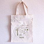 コットンバッグ+シルク片面1色印刷