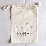 コットン巾着袋+シルク片面1色印刷